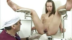 Hot young Heddie fucked by dirty old doctor