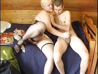 Russian boy penis - Russian boy fucking a plumper mature