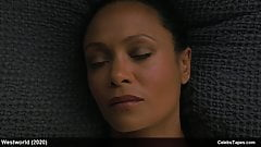Thandie Newton nude frontal scenes from Westworld