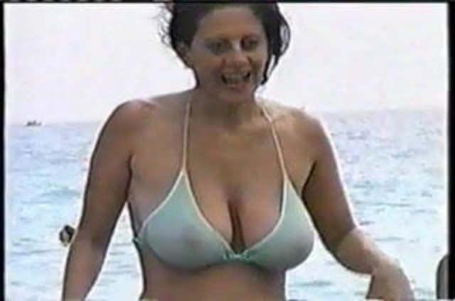 Big natural tits in revealing bikinis porno photo