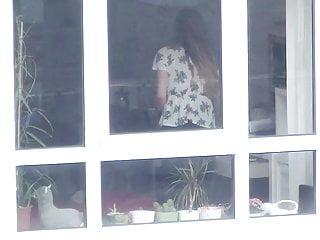 Women undressing voyeur Window voyeur: young slim teen neighbour undressing