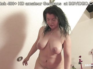 Old german sluts - Old german slut makes her melons bounce on mature dick