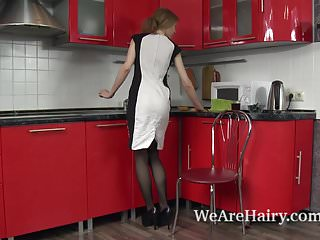 Farmers stripped the hairy studs naked - Lavatta w strips naked and sexy in her kitchen