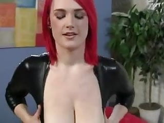 Pooping in latex Busty pornstar - pov redhead in latex