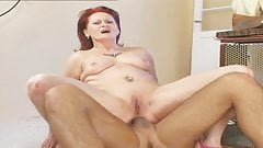 VODEU - Redhead granny loves ANAL
