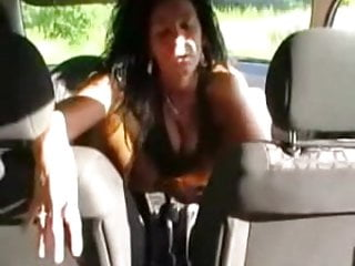Car sex gear - Amateur masturbation sitting on gear shift
