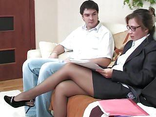 Headmistress shower masturbate - Headmistress seduces guy