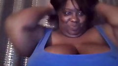 BBW Black Busty Beauty Wants Your Cum On Her Huge Tits