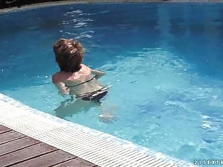 Ucfv adult education - Mom educes her young neighbor in the pool