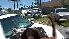 Black teen gets fucked in public