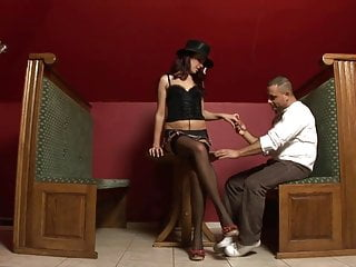 Pole dance and blowjob Rose pole dances and takes on arpis hard cock