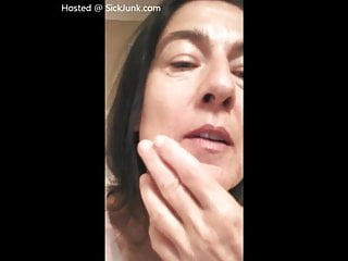 Questions about facials - Pervy grandmother talks about cum on her face