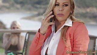 Classy milf seduced by her new stepdaughter