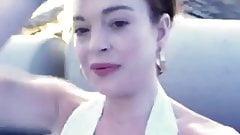 Lindsay Lohan (Cleavage) Nip Slip