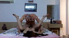 Fake tits Thai bitch hurt by big white dick