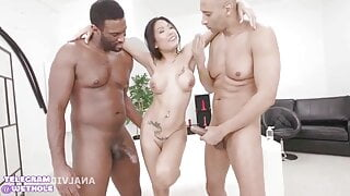 double anal adventures of Asian girl