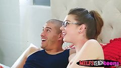 Elena Koshka has her stepmom join her and her boyfriend