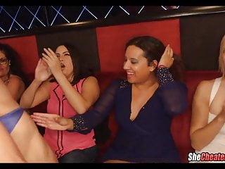 Girls suck stripper cocks Party girls suck a lot of stripper dick