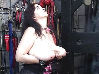 Girl gets over power girl anal Girl gets nipples clamped hard and bends over