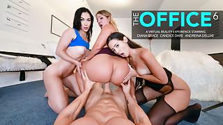 Naughty America - Three hot babes work together to keep job