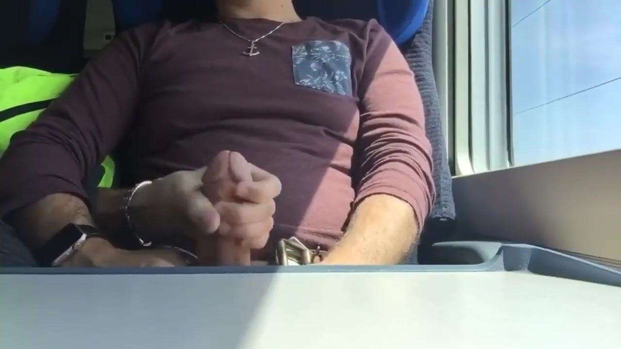 Touching stranger woman in train