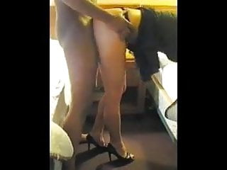 Women jerking cock from behind - White wife taking bbc from behind