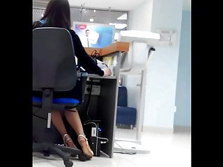 Camera hidden sexy video - Sexy banker and her legs