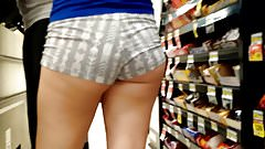 Cheeky shorts in the checklane