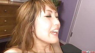 Yuki Mizuho gets ass fucked in insane f - More at Pissjp.com
