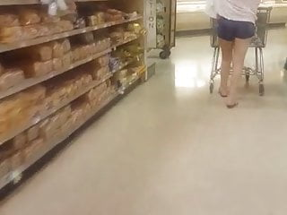 Teen booty shorts dance video - Candid publix shopper wearing booty shorts
