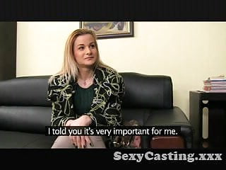 Shy secretary interview slut load Casting shy blonde takes big dick in interview