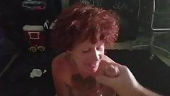 Buffy sucking my cock