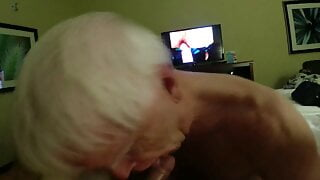 Grandpa Sucks, Rims, and Gets His Face Fucked and Gags