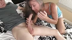 Mature Secretary Fucks 20yo Boss