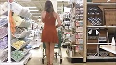 18yr old teen skirt vpl at craft store