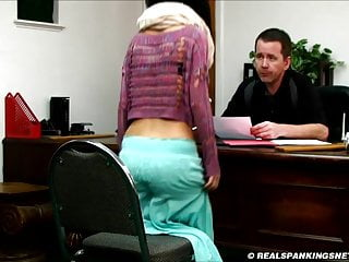 Real life femdom spankings - Realistic corporal punishment paddling at school.