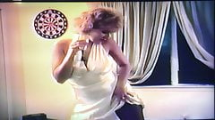 Old VHS tape, Young MILF with perfect tits