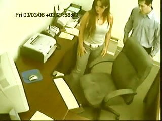 Caught on camera in sex act Surprise office sex caught on camera