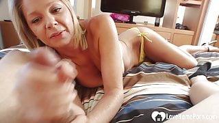Desirable blonde stepmom wants a stiff shaft