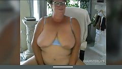 Granny gran Jo pussy masturbation saggy big boobs