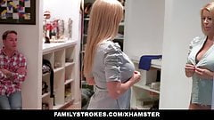 familyStrokes - Stepmom fucks stepson while dad is away