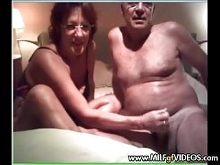 Male blowjob contest - Older couple sucking and fucking on milf gf contest line