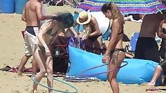 Beach Performer Black Bikini n Tatoos