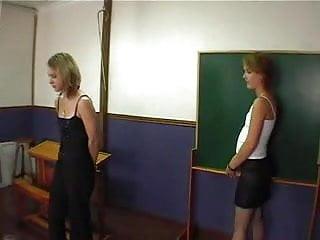 Spank the teacher Teacher spank and finger 2 teens xlx