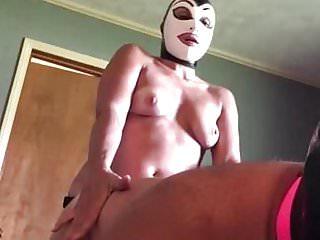 Latex mask fetish Amateur latex mask pegging