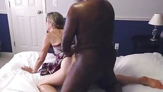 Sexy wife gets her pussy eaten and fucked by black guy