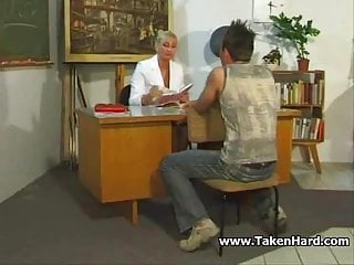 Young boy fucks teacher German teacher fucks by young boy