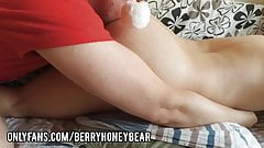 Daddy Claus rimming and fingering his boy