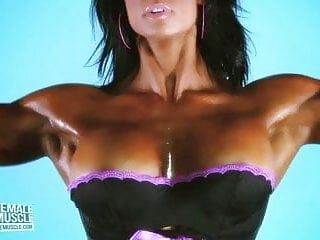 Hairy muscle girl - Muscle girl jennifer love boobs popping out of her top