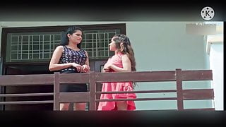 Two desi girls trying to seduce the rich neighbour PART 1